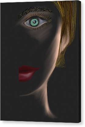 Woman In Shadows Canvas Print by Michele Koutris