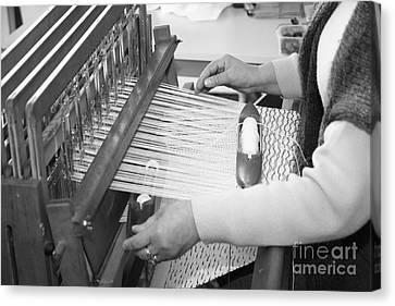 Woman Weaving Canvas Print by Gaspar Avila