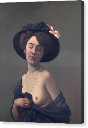 Woman With A Black Hat Canvas Print by Felix Vallotton