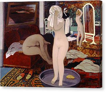 Women At Their Toilet Canvas Print by Felix Edouard Vallotton