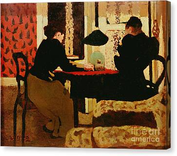 Women By Lamplight Canvas Print by vVuillard