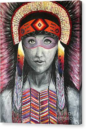 Women From The Tribe Canvas Print by Home Art
