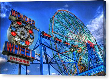 Wonder Wheel Canvas Print by Bryan Hochman
