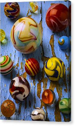 Wonderful Glass Marbles Canvas Print by Garry Gay