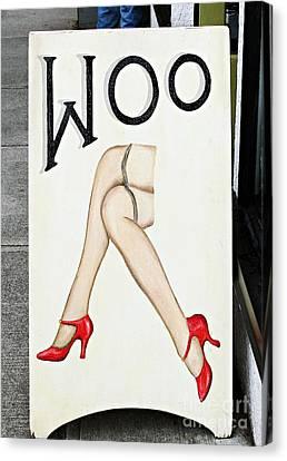 Woo Canvas Print by Ethna Gillespie