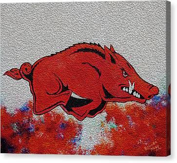 Woo Pig Sooie 2 Canvas Print by Belinda Nagy