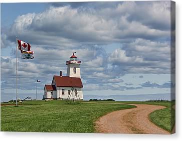 Wood Islands Lighthouse - 2 - Pei Canvas Print by Nikolyn McDonald
