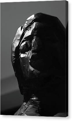Wood Sculpture Head Canvas Print by Sandy