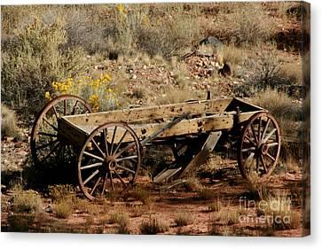 Wooden Wagon Canvas Print by Robert  Torkomian