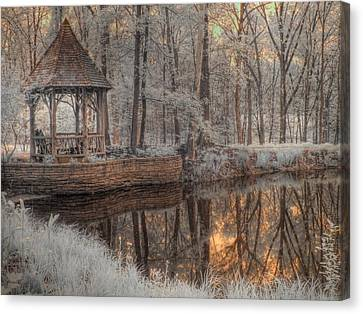 Woodland Gazebo Canvas Print by Jane Linders