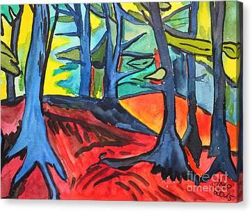 Woodland Scene Canvas Print by Jutta Maria Pusl