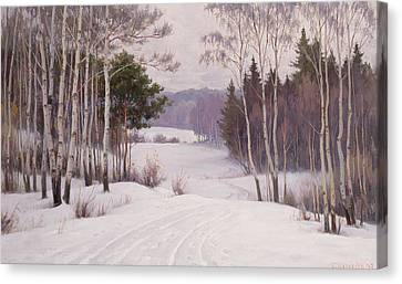 Woodland Trail Canvas Print by Boris Walentinowitsch Scherkow