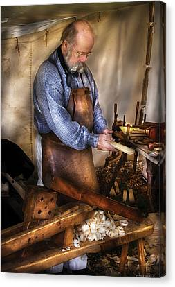 Woodworker - The Carpenter Canvas Print by Mike Savad