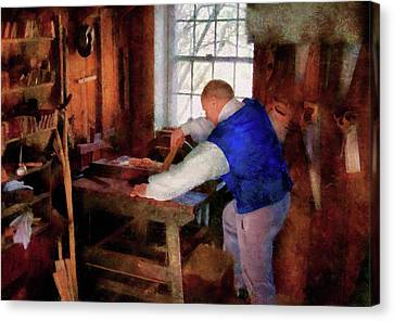 Woodworker - The Master Carpenter Canvas Print by Mike Savad