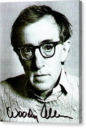 Woody Allen Autographed Portrait Canvas Print by Pd