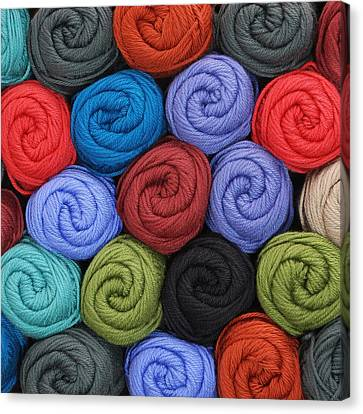 Wool Yarn Skeins Canvas Print by Jim Hughes