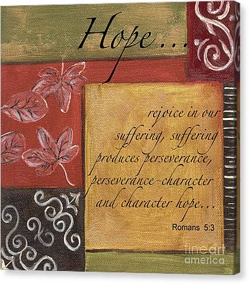 Words To Live By Hope Canvas Print by Debbie DeWitt