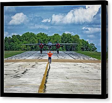 Working The Line Canvas Print by Jack R Perry