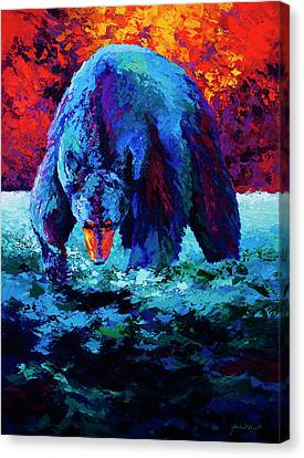 Working The Shallows Canvas Print by Marion Rose