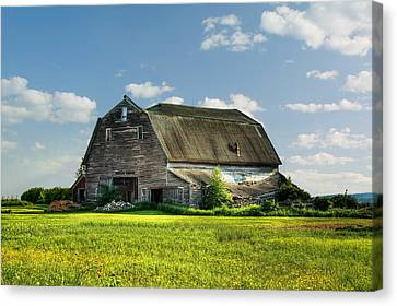 Working This Old Barn Canvas Print by Gary Smith