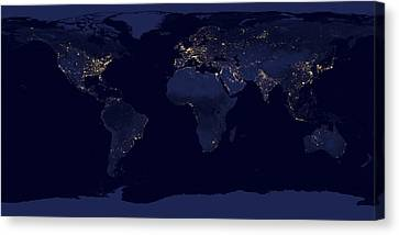 World City Lights Canvas Print by Adam Romanowicz