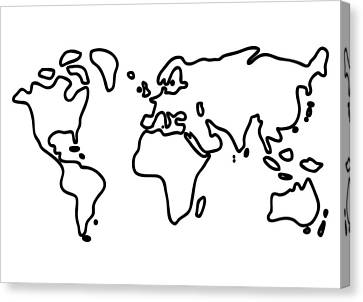 World Globe Canvas Print by Lineamentum