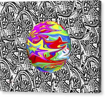 World Hub Canvas Print by Betsy C Knapp