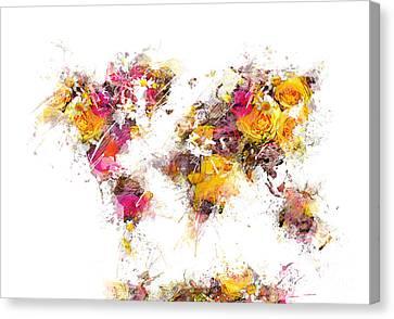 World Map 2033 Canvas Print by Justyna JBJart