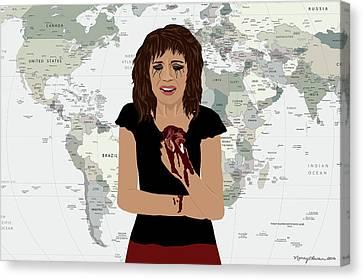World Pain Canvas Print by Nancy Levan