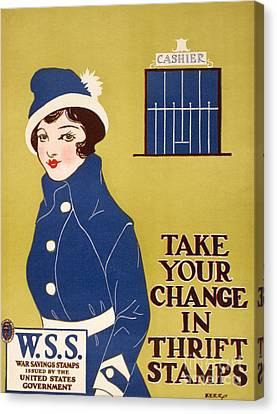 World War I: Thrift Stamps Canvas Print by Granger