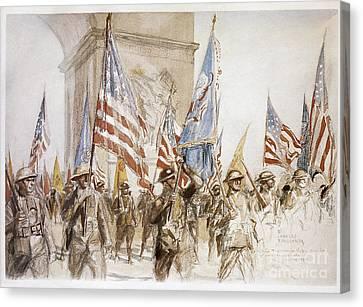 World War I: Victory Parade Canvas Print by Granger