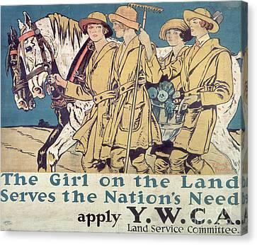 World War I Ywca Poster  Canvas Print by Edward Penfield