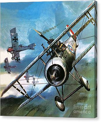 World War One Dogfight Canvas Print by Wilf Hardy