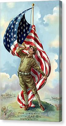 World War One Soldier Canvas Print by War Is Hell Store