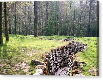 Canvas Print featuring the photograph World War One Trenches by Travel Pics