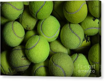 Worn Out Tennis Balls Canvas Print by Paul Ward