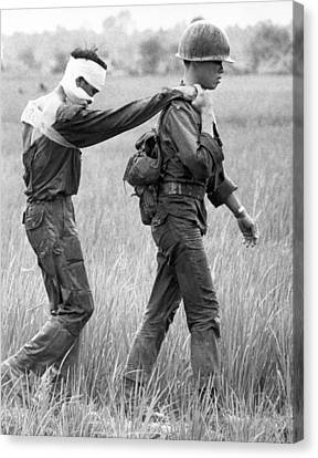 Wounded Vietnamese Soldier Canvas Print by Underwood Archives