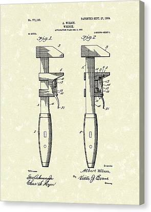 Wrench Wilson 1904 Patent Art Canvas Print by Prior Art Design
