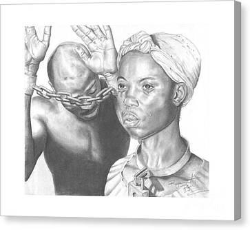 Wretched Bonds Of Slavery Canvas Print by Sandra Pryer
