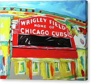 Wrigley Field Canvas Print by Elliott From