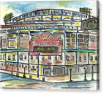 Wrigley Field Canvas Print by Matt Gaudian