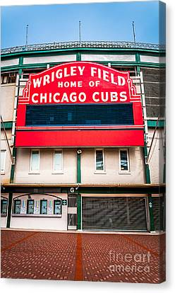 Wrigley Field Sign Photo Canvas Print by Paul Velgos