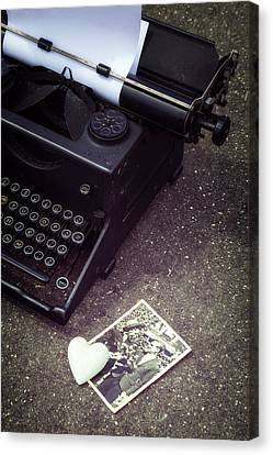 Writing A Love Letter Canvas Print by Joana Kruse