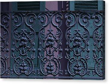 Wrought Iron Railings Canvas Print by Garry Gay