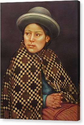 Ws1979bo013 Eloisa La Paz  14x20 Canvas Print by Alfredo Da Silva