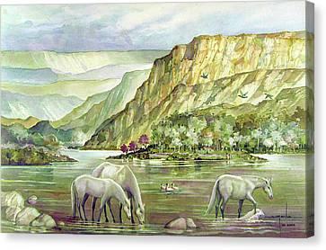Ws2000dc023 Landscape Bolivia 18x12 Canvas Print by Alfredo Da Silva
