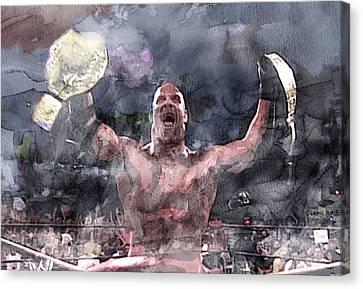 Wwe Wrestling 110 Canvas Print by Jani Heinonen