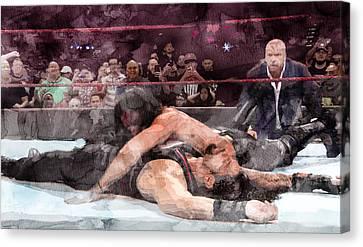 Wwe Wrestling 19 Canvas Print by Jani Heinonen