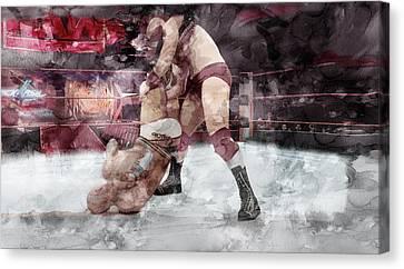 Wwe Wrestling 20 Canvas Print by Jani Heinonen