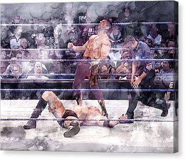 Wwe Wrestling 200 Canvas Print by Jani Heinonen